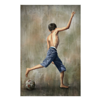 Brazil 2014 The Desire Soccer Art by Jackie Liao Poster