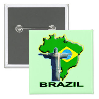 Brazil 2 Inch Square Button