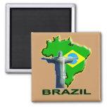 Brazil 2 Inch Square Magnet