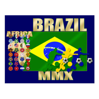 Brazil 32 Country Qualifying 2010 soccer gifts Postcard