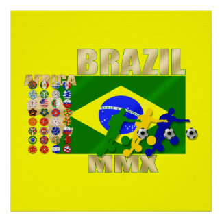 Brazil 32 Country Qualifying 2010 soccer gifts Posters