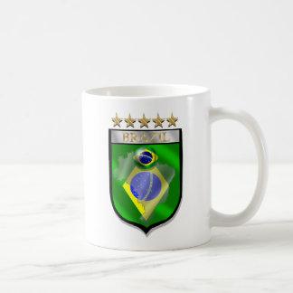 Brazil 5 star badge futebol shield gifts coffee mug