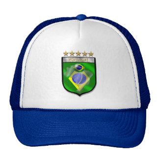 Brazil 5 star badge futebol shield gifts trucker hat