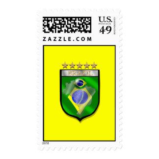 Brazil 5 star badge futebol shield gifts stamp