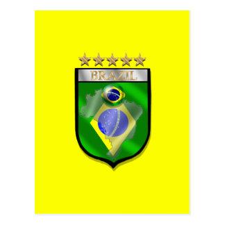 Brazil 5 star badge futebol shield gifts postcard