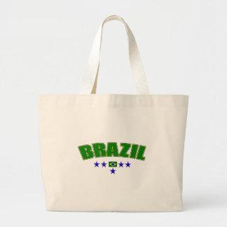 Brazil 5 Star Blue Worded logo 5 star futebol gear Bag