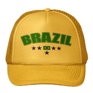 Brazil 5 Star Blue Worded logo 5 star futebol gear Trucker Hat