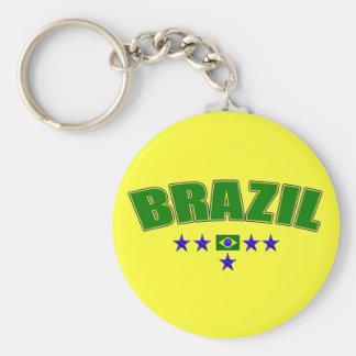 Brazil 5 Star Blue Worded logo 5 star futebol gear Keychains