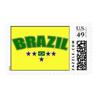 Brazil 5 Star Blue Worded logo 5 star futebol gear Postage