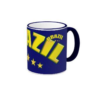 Brazil 5 star world champions coffee cup