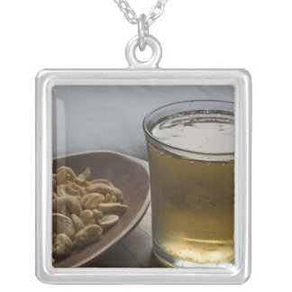 Brazil. A Glass of refreshing Guarana Energy Silver Plated Necklace