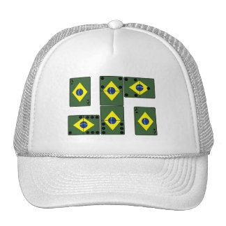 Brazil Ace Cards and Domino s Trucker Hats