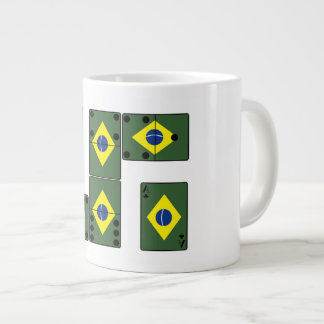 Brazil Ace Cards and Domino's Large Coffee Mug