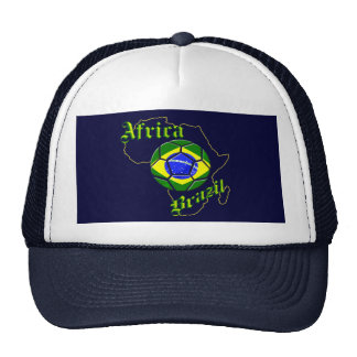 Brazil Africa Map of Africa soccer lovers gifts Trucker Hat