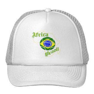 Brazil Africa Map of Africa soccer lovers gifts Hat