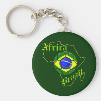 Brazil Africa Map of Africa soccer lovers gifts Keychains