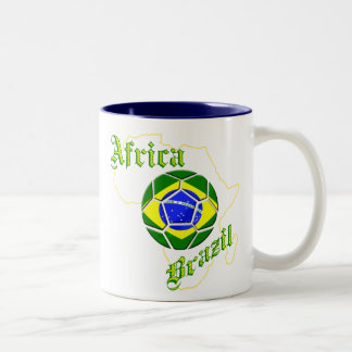 Brazil Africa Map of Africa soccer lovers gifts Coffee Mugs