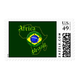 Brazil Africa Map of Africa soccer lovers gifts Postage Stamps