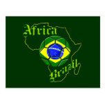 Brazil Africa Map of Africa soccer lovers gifts Postcard
