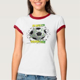 Brazil Always Scoring Ladies Ringer T Tee Shirt