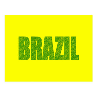 Brazil Amazon Plant Textures forest logo gifts Post Card