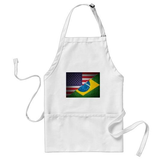 brazil and america adult apron
