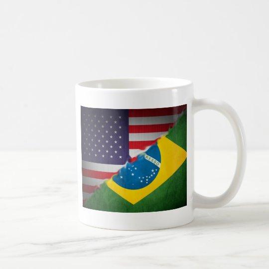 brazil and america coffee mug