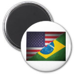 brazil and america magnets