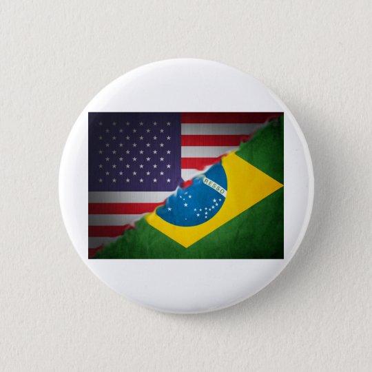 brazil and america pinback button