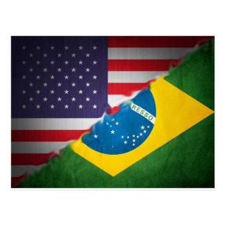 brazil and america postcard