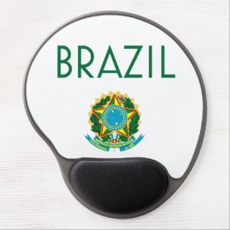 Brazil and Coat of Arms Gel Mouse Pad