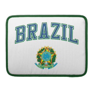 Brazil and Coat of Arms MacBook Pro Sleeve