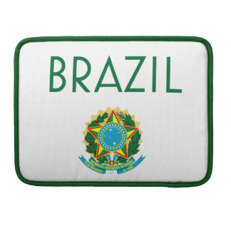Brazil and Coat of Arms MacBook Pro Sleeves