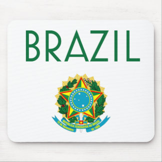 Brazil and Coat of Arms Mouse Pad