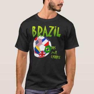 Brazil and futbol dos mil catorce! T-Shirt