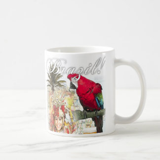 brazil and jamacia classic white coffee mug