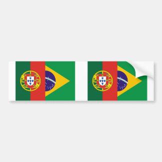 Brazil And Portugal, hybrids Car Bumper Sticker