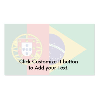 Brazil And Portugal, hybrids Double-Sided Standard Business Cards (Pack Of 100)