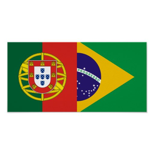 Brazil And Portugal, hybrids Poster