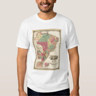 Brazil, Argentine Republic, Paraguay, and Uruguay Tee Shirt