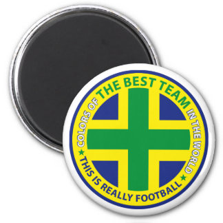 BRAZIL ART SHIELD MAGNET