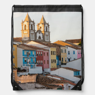 Brazil, Bahia, Salvador, The Oldest City Drawstring Bag