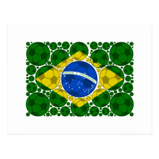 Brazil balls postcard