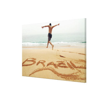 BRAZIL. Barechest man wearing a swimming suit Canvas Print