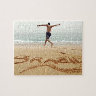 BRAZIL. Barechest man wearing a swimming suit Jigsaw Puzzle
