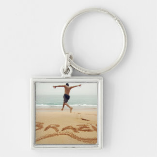 BRAZIL. Barechest man wearing a swimming suit Keychain