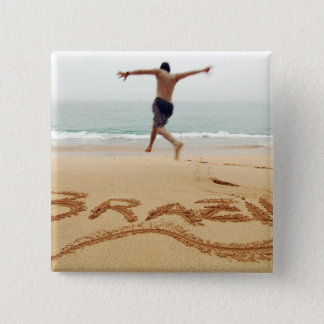 BRAZIL. Barechest man wearing a swimming suit Pinback Button