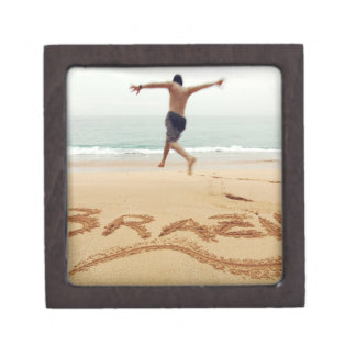 BRAZIL. Barechest man wearing a swimming suit Premium Keepsake Box