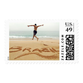 BRAZIL. Barechest man wearing a swimming suit Stamp