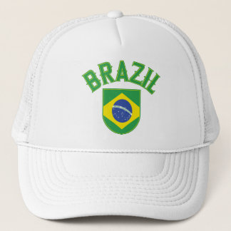Brazil Big and Bold Trucker Hat